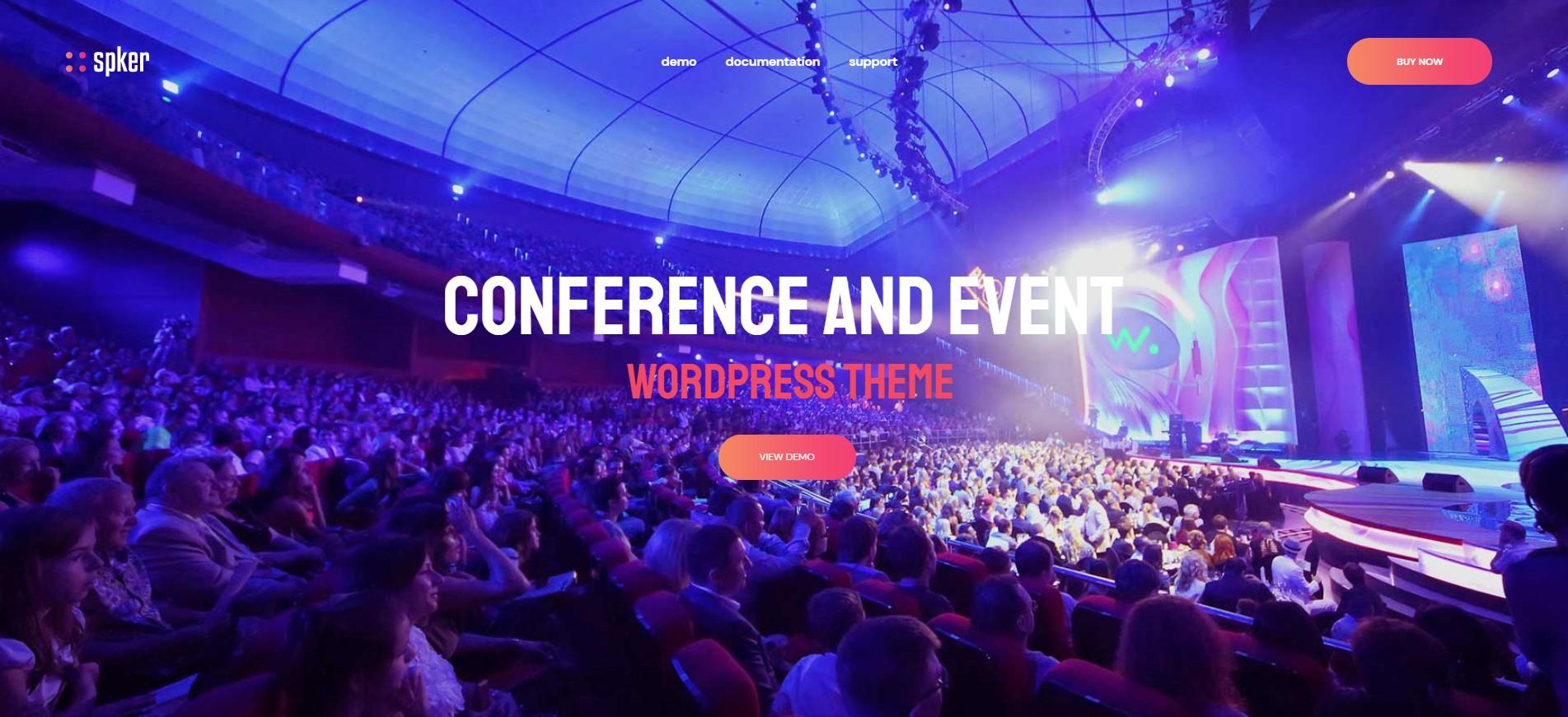 spker conference event wordpress theme