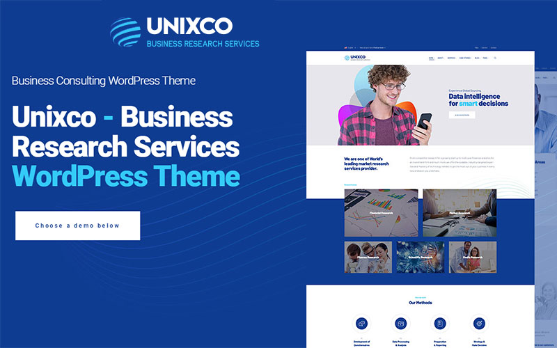 Unixco   Business Research Services WordPress Theme