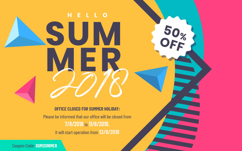 hello summer 2018   Sale off 50% All