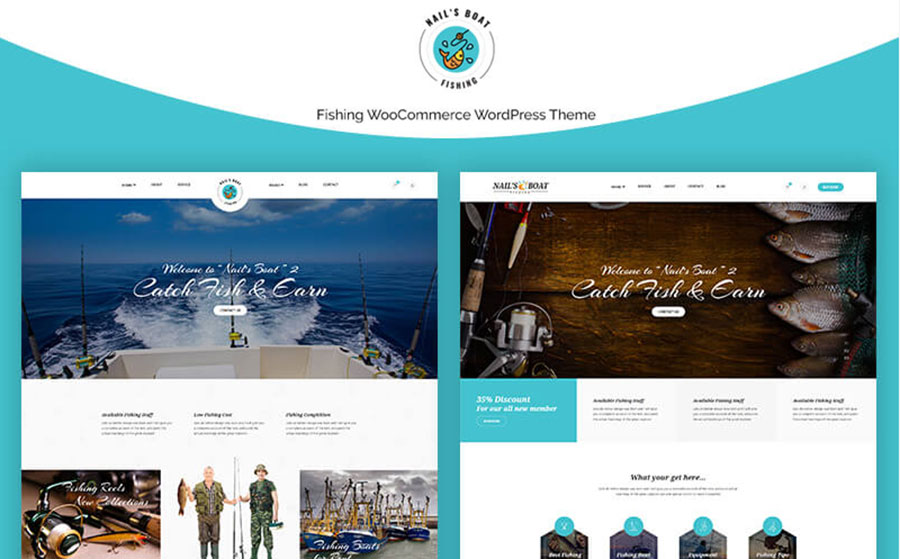 Nailsboat - Fishing WooCommerce Theme