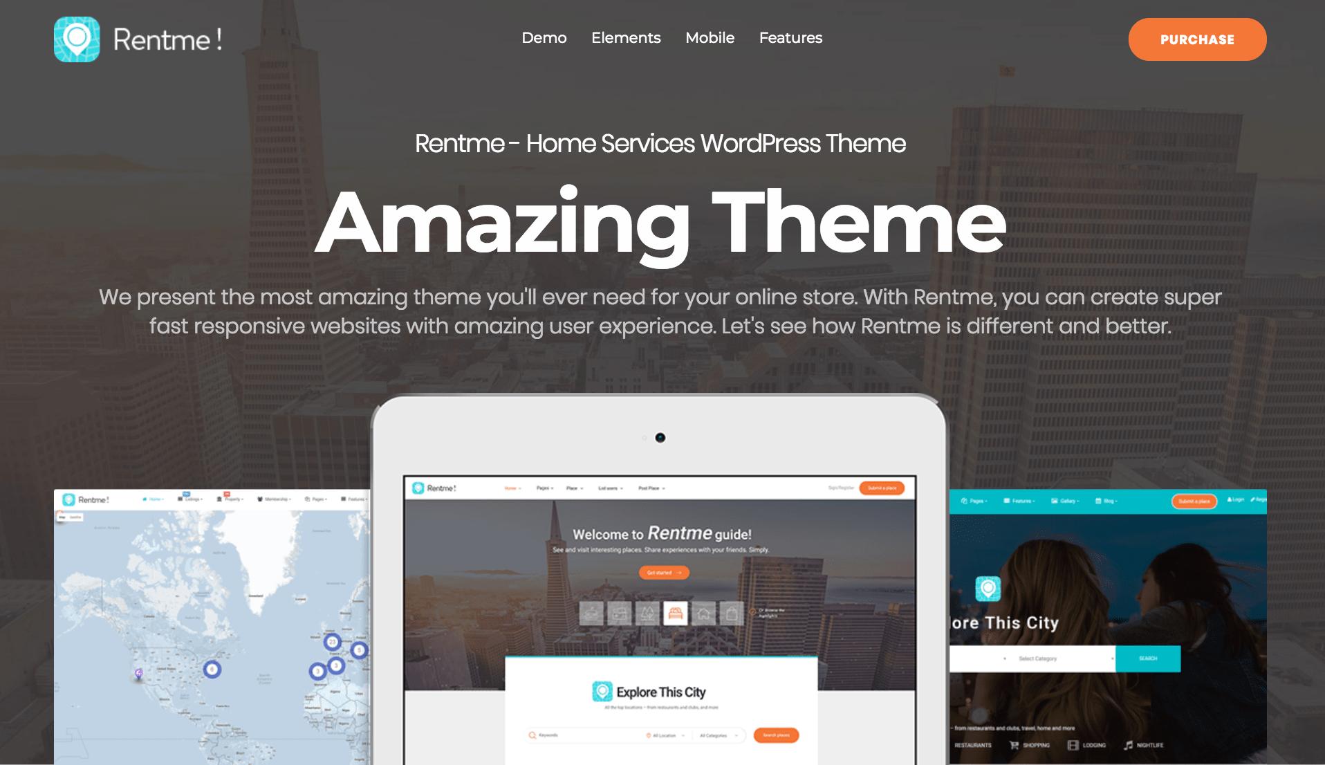 rentme multipurpose wordpress theme