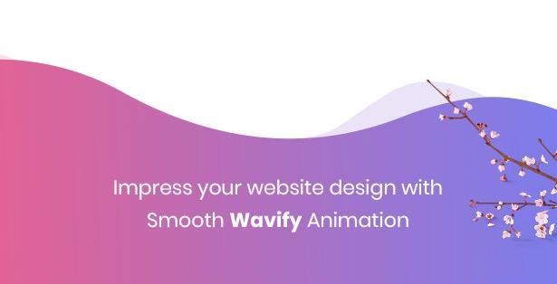 Strollik single product with smooth wavify animation