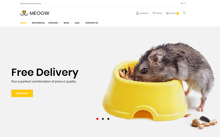 Meeow - Cute Pet Shop Shopify Theme <img src=