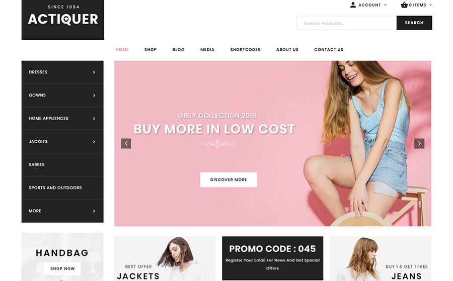 Actiquer - WooCommerce Theme<img src=