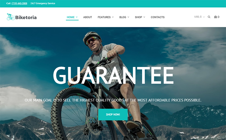 Biketoria- Bike Shop Elementor WooCommerce Theme<img src=