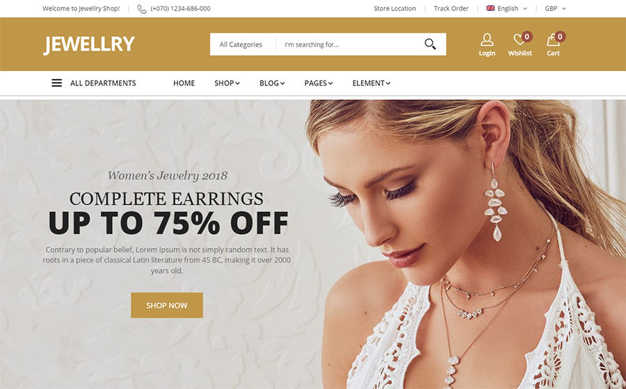 Jewellry - WooCommerce Theme<img src=
