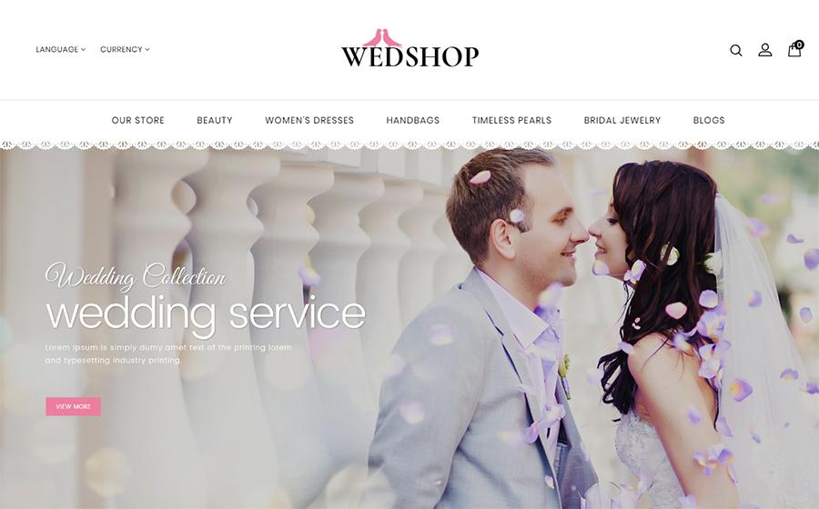 Wedshop - Responsive OpenCart Template <img src=