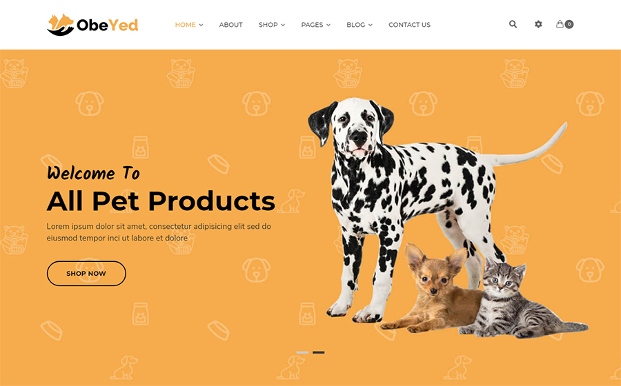 Obeyed - Pet Food WooCommerce Theme <img src=