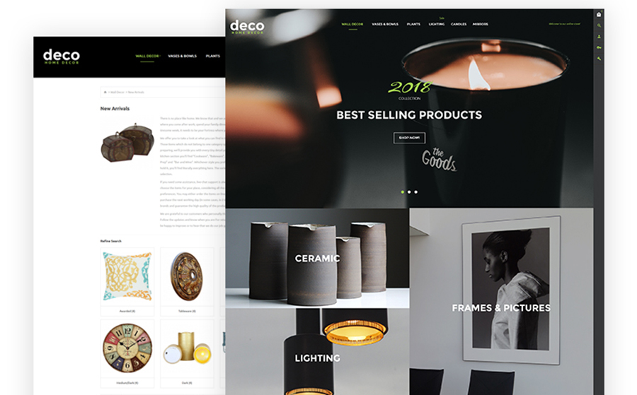 Deco - Interior Design Online Shop OpenCart Template<img src=