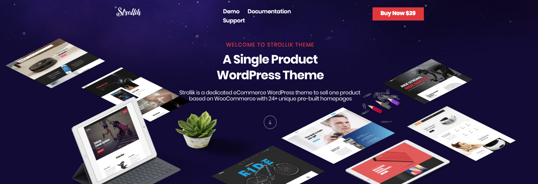 Strollik Best Elementor Single Product WordPress Theme