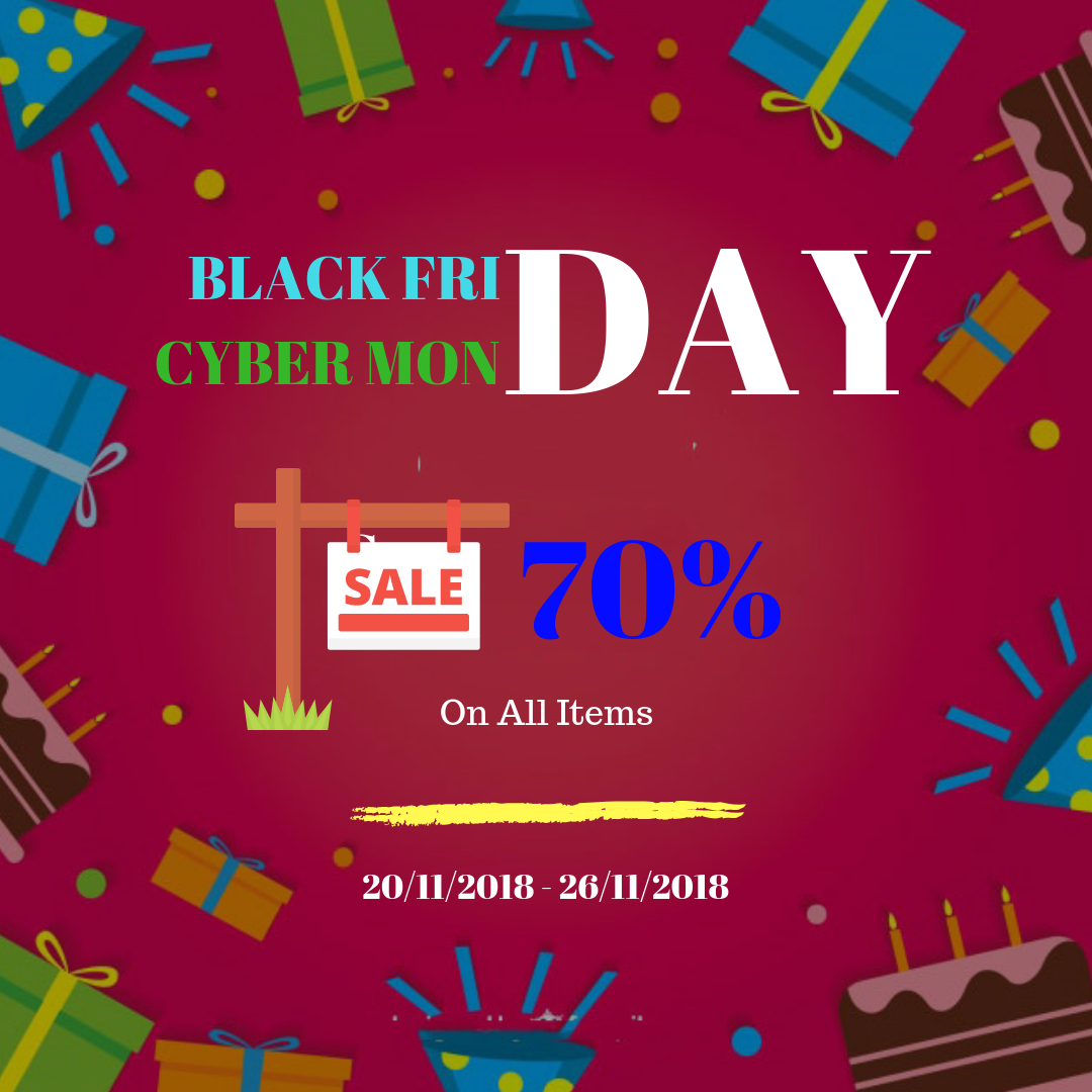 big sale 70% for Black Friday & Cyber Monday