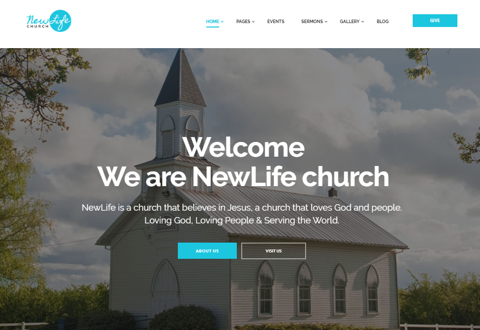 New Life Church & Religion WordPress Theme