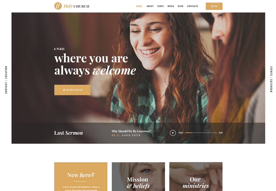 Holy Church | Religion & Nonprofit WordPress Theme