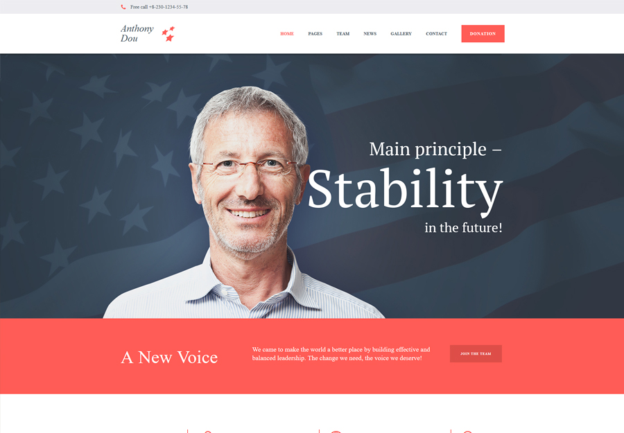 Unite - A Modern Political & Social WordPress Theme