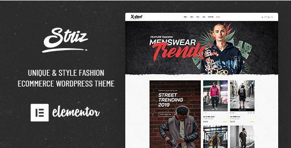 best fashion WordPress theme Striz street style