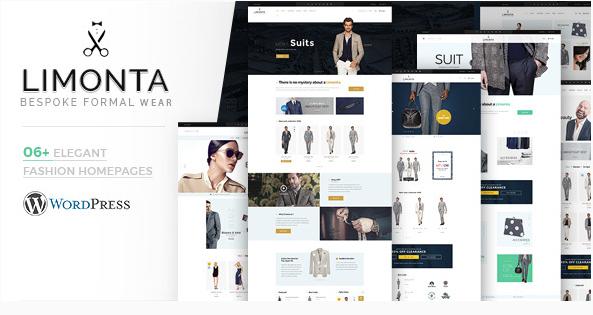 best fashion WordPress theme Limonta bespoke formal wear