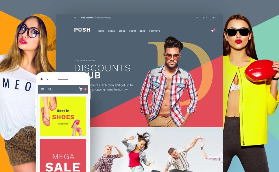 best fashion WordPress theme Posh urban style