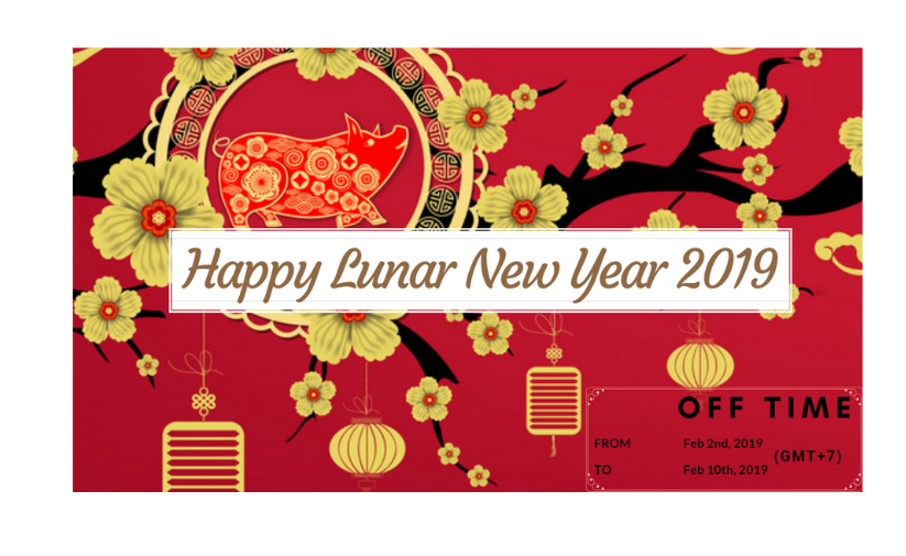 Happy lunar new year 2019   Holiday announcement