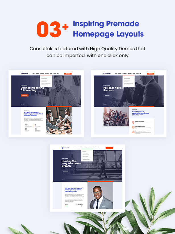 03+ Stunning Consultancy Homepages