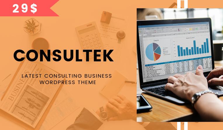 Consultek Latest Consulting Business WordPress Theme