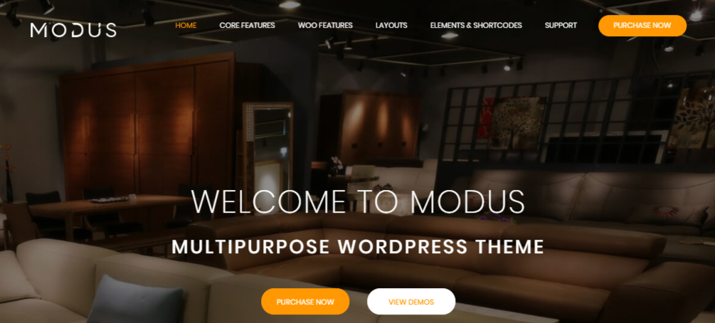 Modus Modern Furniture WooCommerce Theme