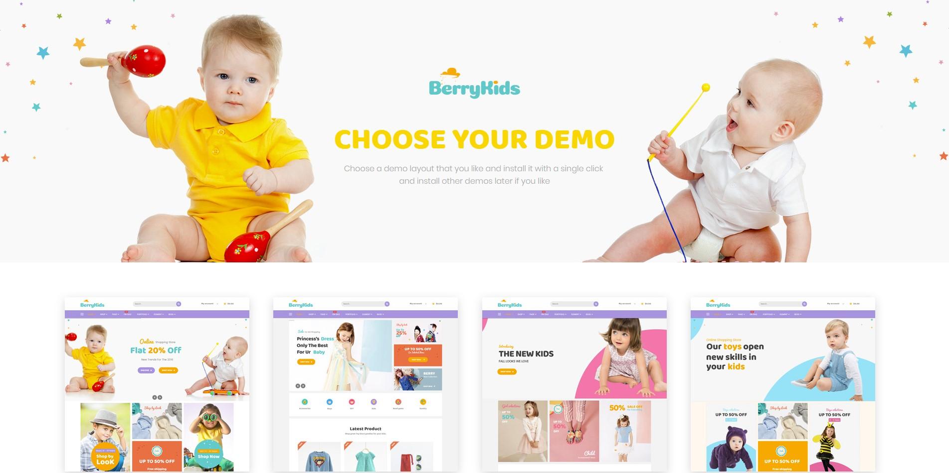 BerryKid – Baby Store WooCommerce WordPress Theme