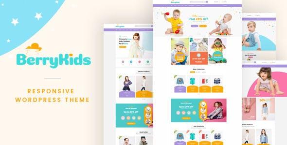 BerryKids best Ecommerce WordPress Theme for Kid Store