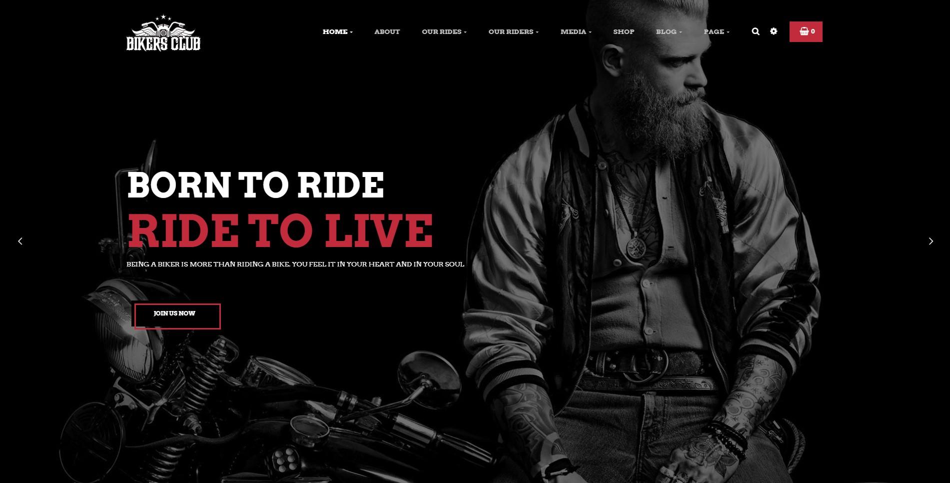 Bikersclub – Motorcycle Responsive WordPress Theme