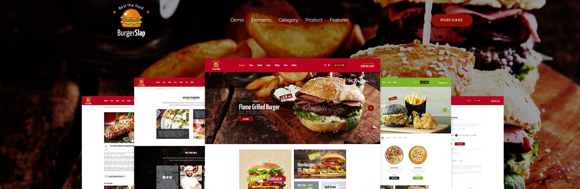 Burger Slap – Fast Food Restaurant WordPress Theme