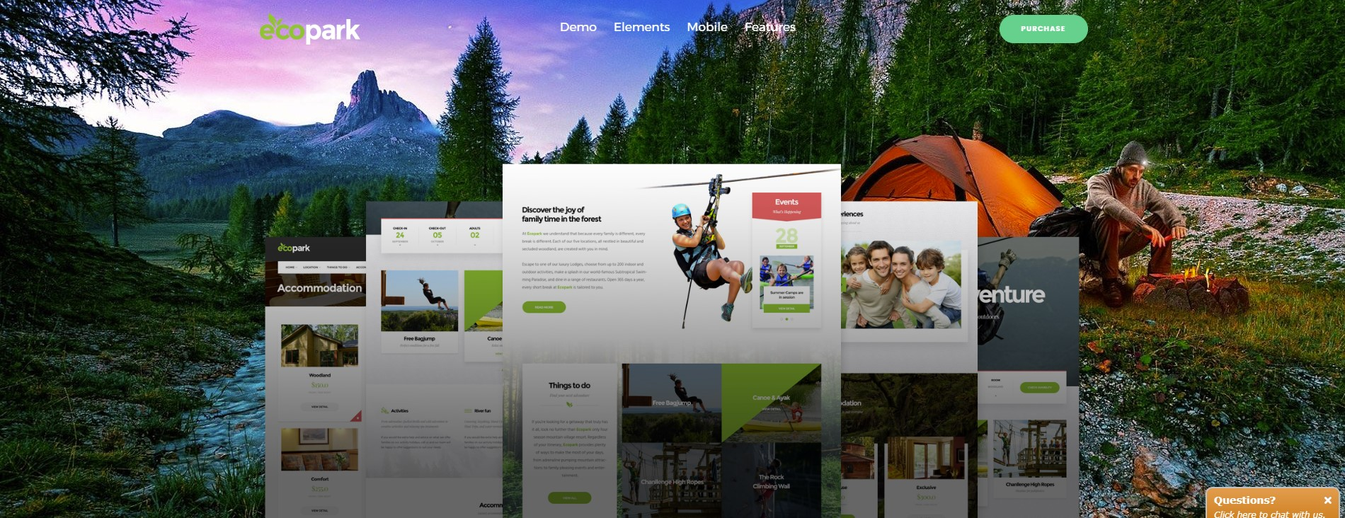 Ecopark – WordPress Theme for Tour, Vacation, Travel & Resort