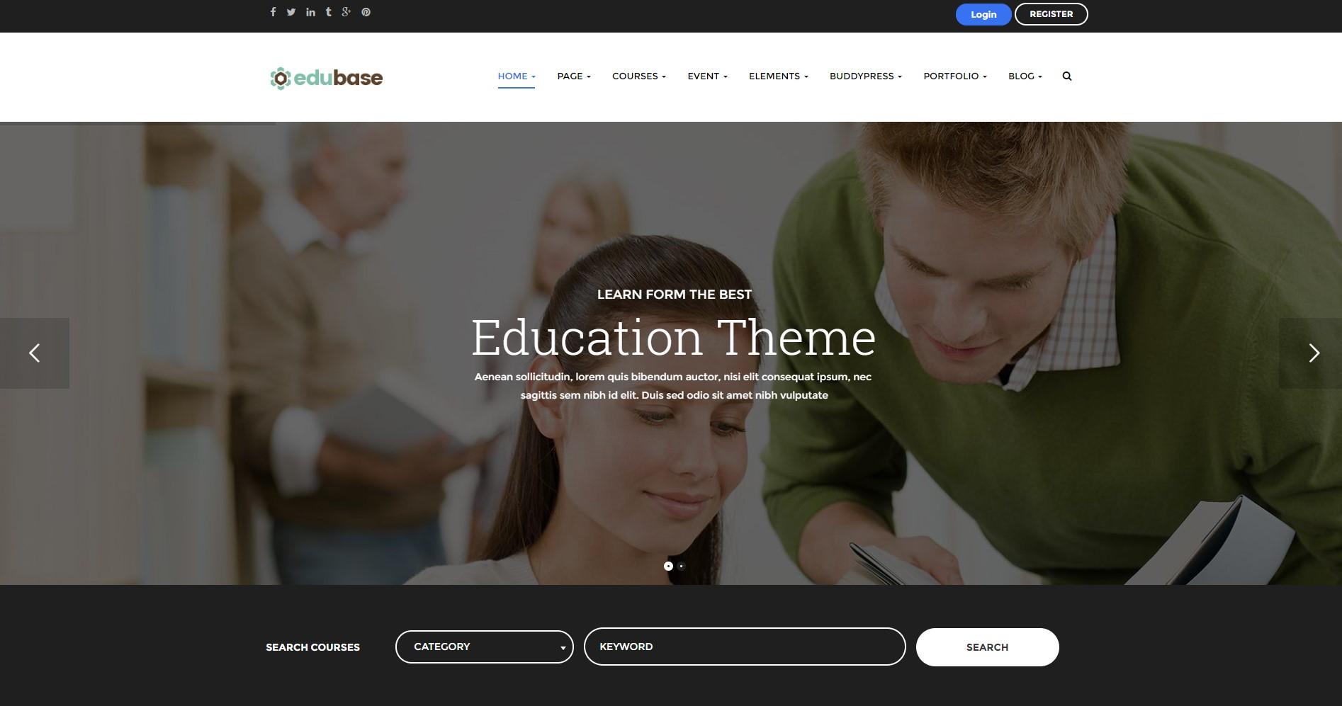 Edubase Course, Learning, Event WordPress Theme