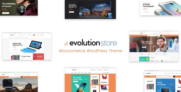 Evolution best Ecommerce WordPress Themes