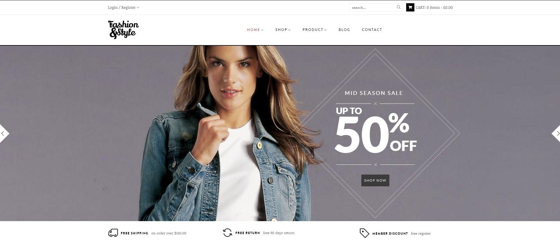 Fashion – WooCommerce Responsive WordPress Theme