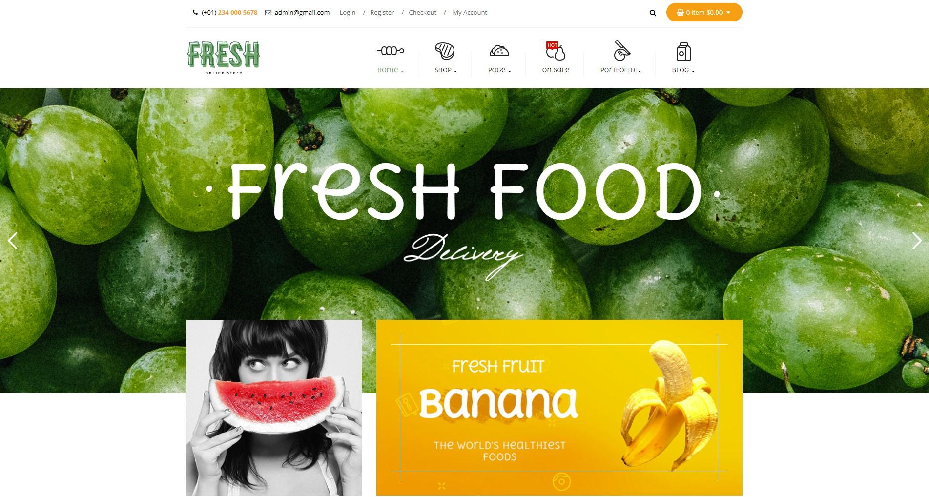 Fresh – Food and Restaurant WooCommerce WordPress
