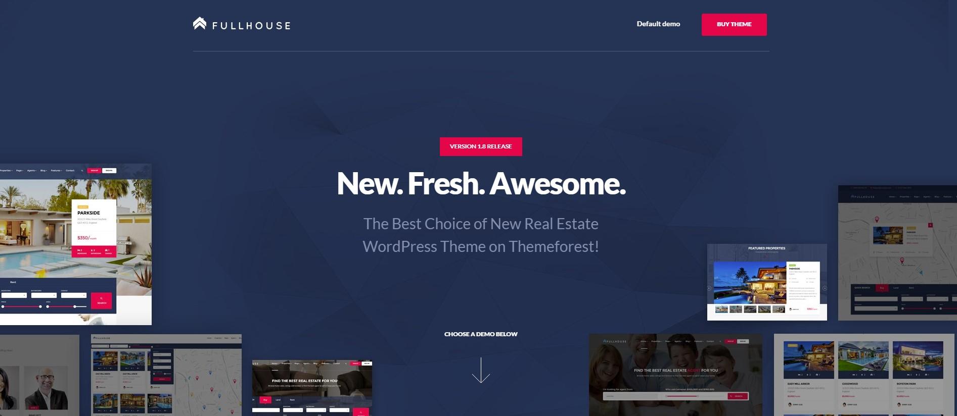 FullHouse – Real Estate Responsive WordPress Theme