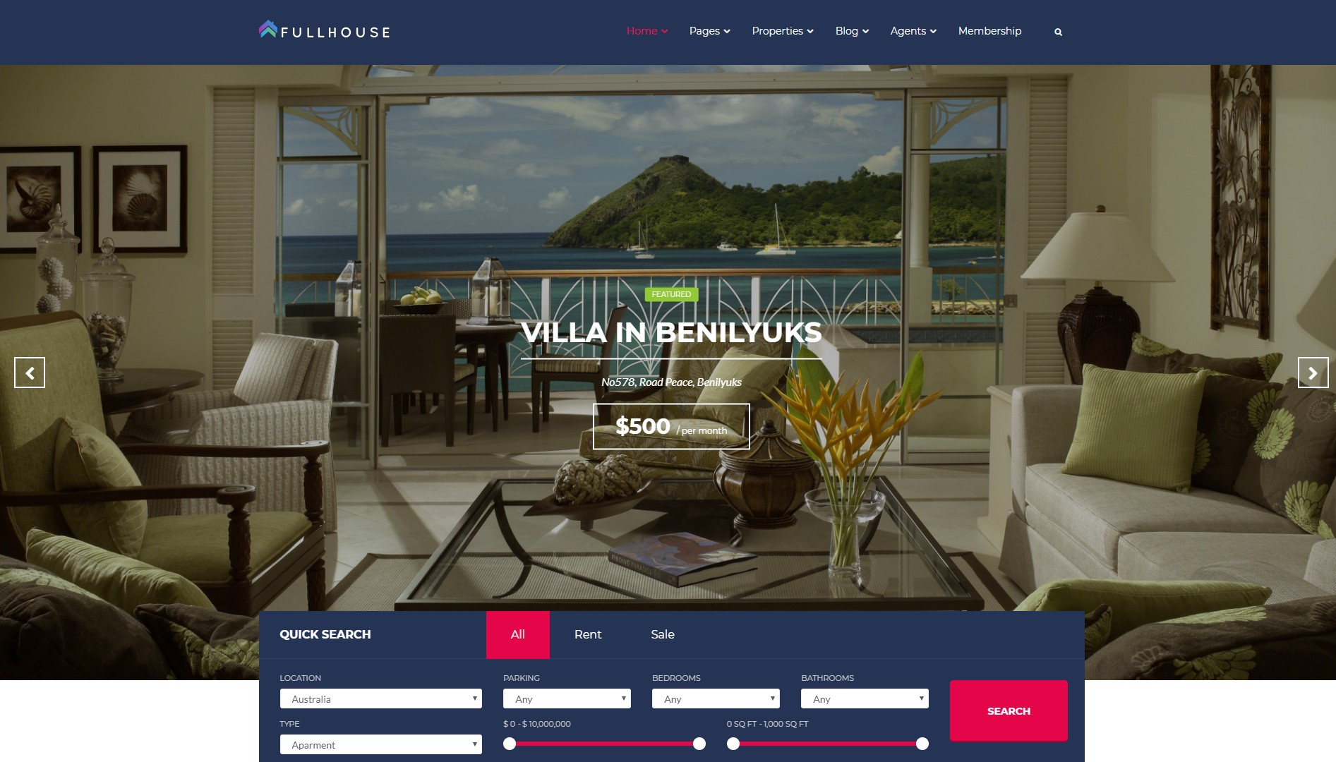 Fullhouse   best Real Estate WordPress Themes 1