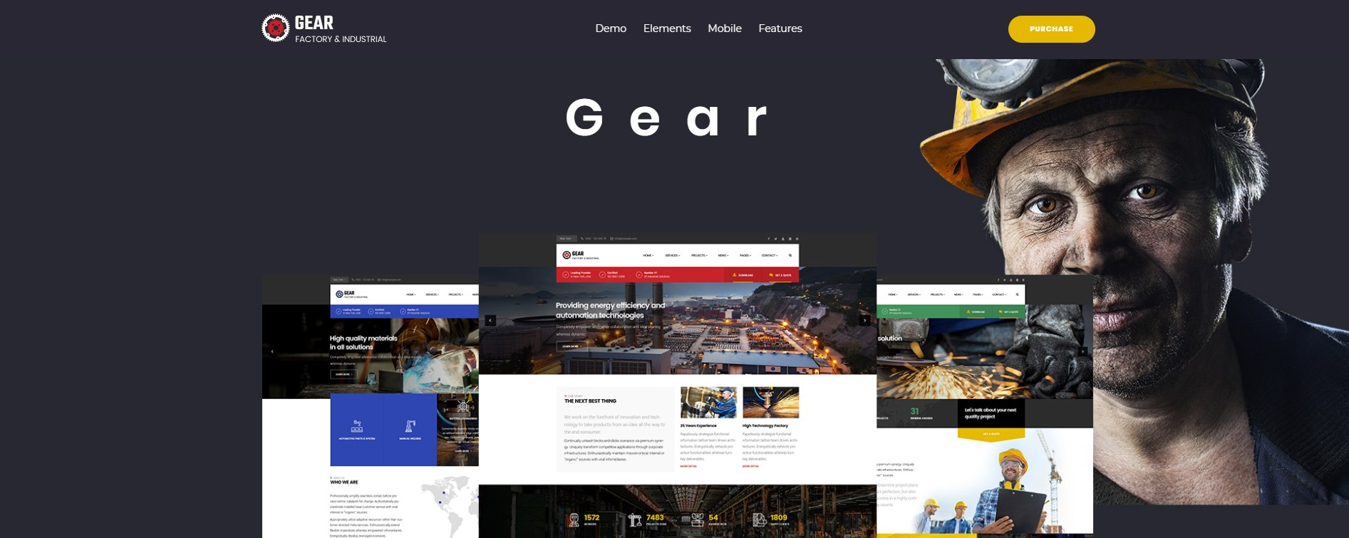 Gear – Factory and Industry Business WordPress Theme