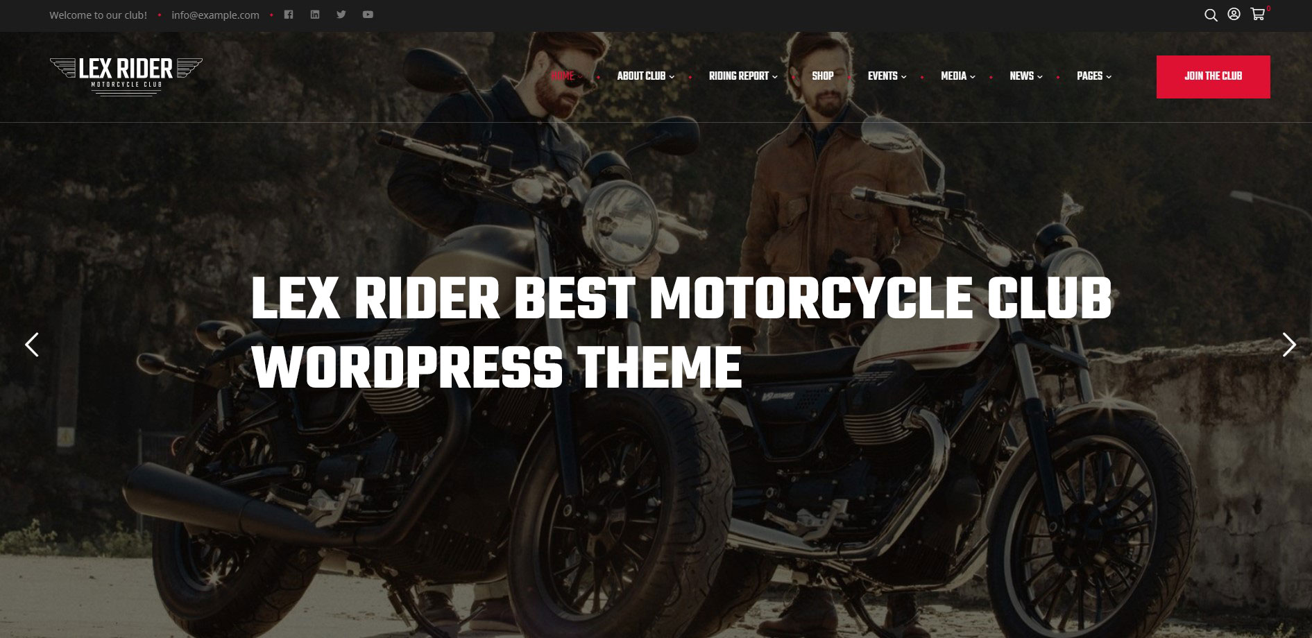 LexRider best motorcycle WordPress Theme