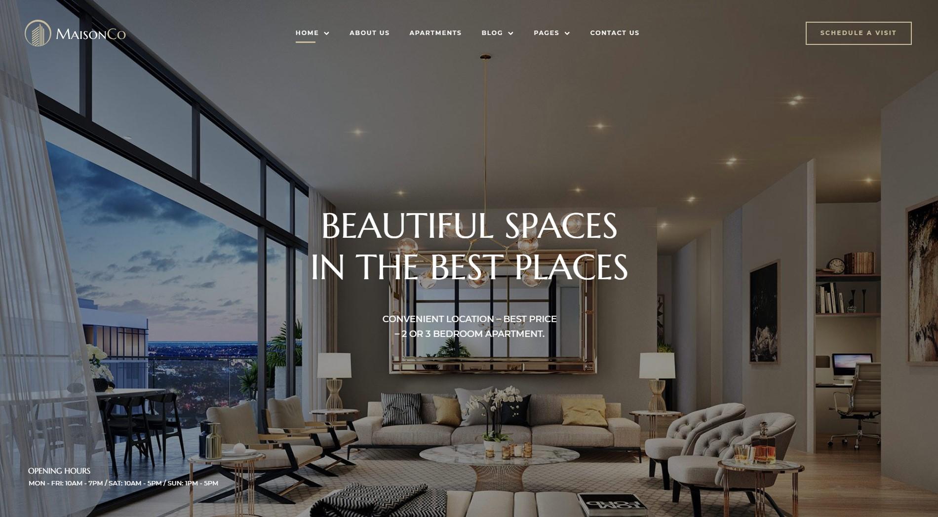 MaisonCo – Single Property WordPress Theme