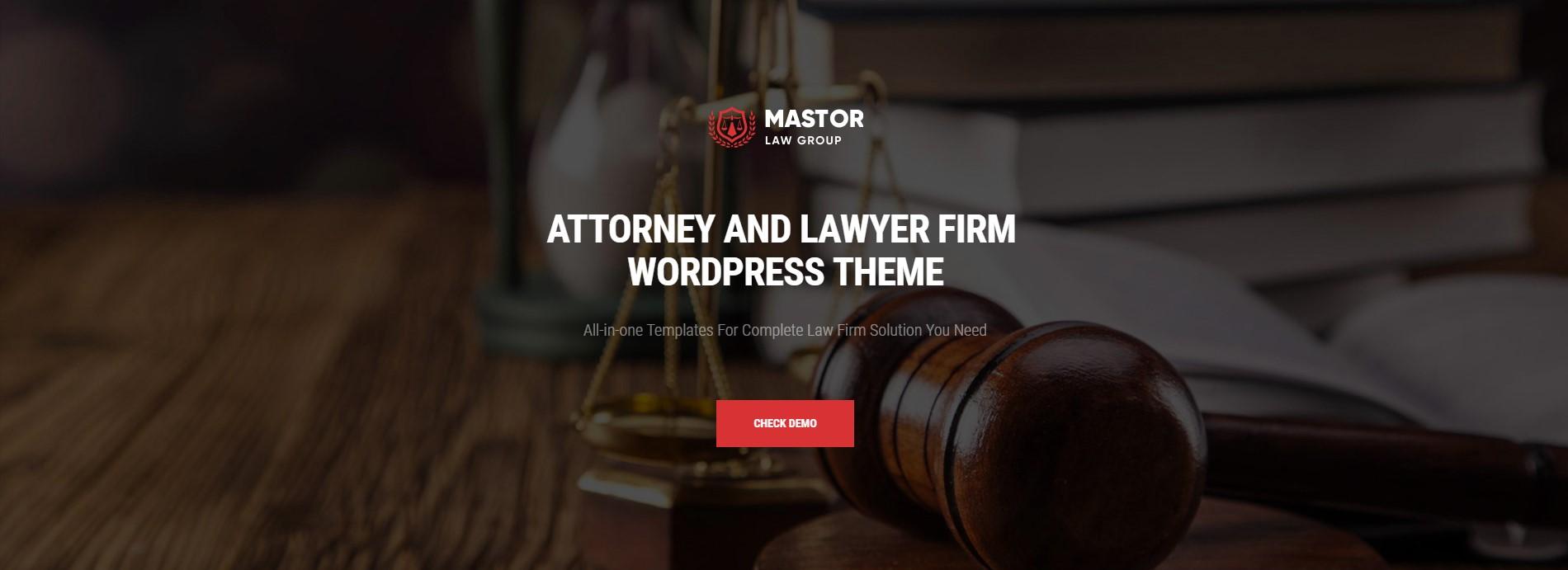 Mastor – Law, Firm & Legal Attorney WordPress Theme