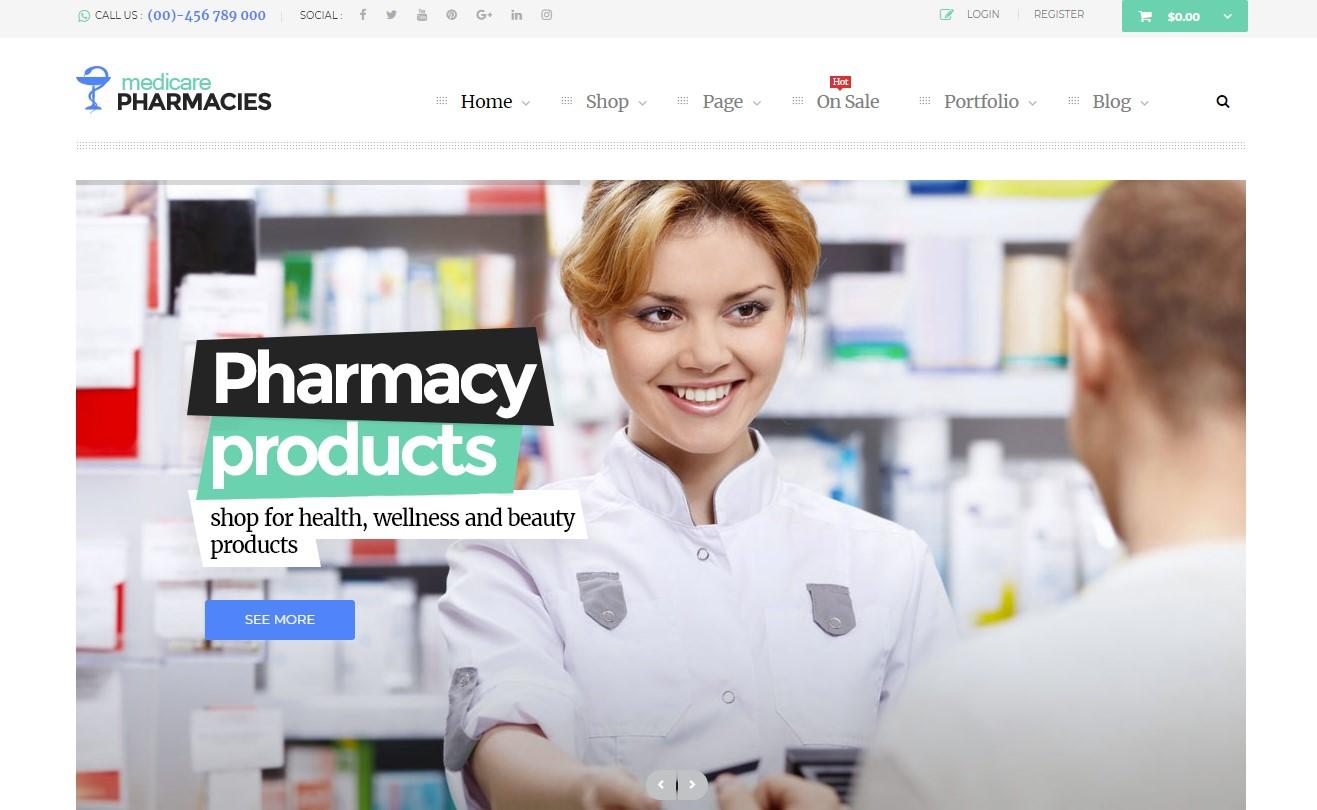 Medicare Pharmacies – Healthcare WordPress Theme