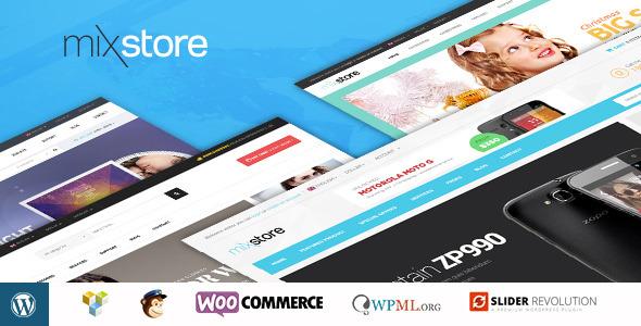 Mixstore best Ecommerce WordPress Themes