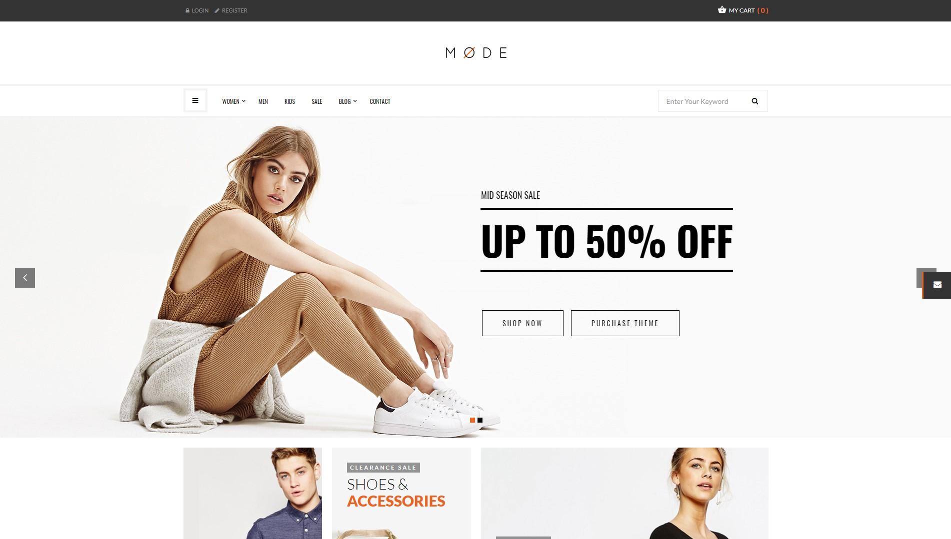 Mode – Modern Fashion WooCommerce WordPress Theme