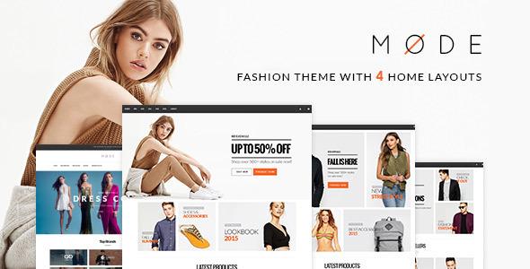 Mode best Ecommerce WordPress Theme for Shopping