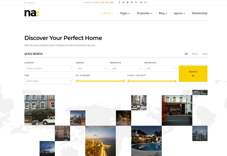 NA - Responsive WordPress Theme for Real Estate