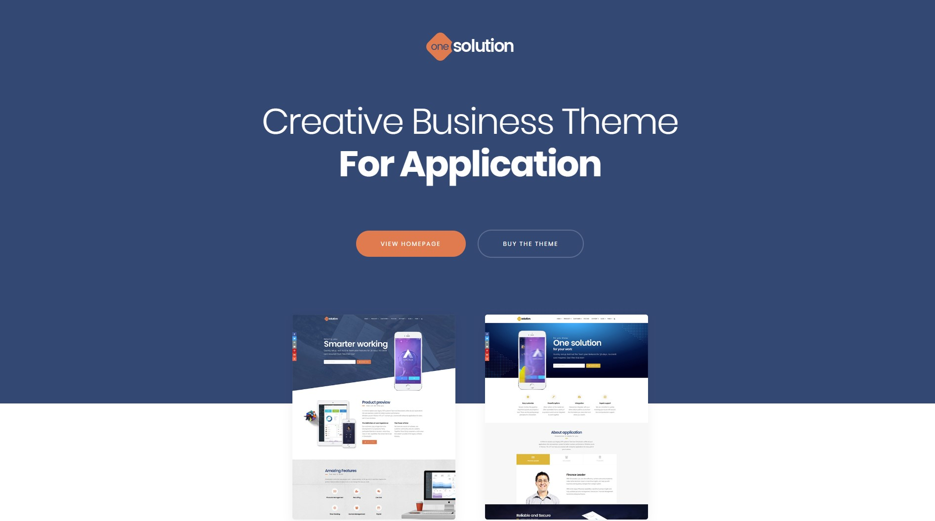 OneSolution – Application Showcase WordPress Theme