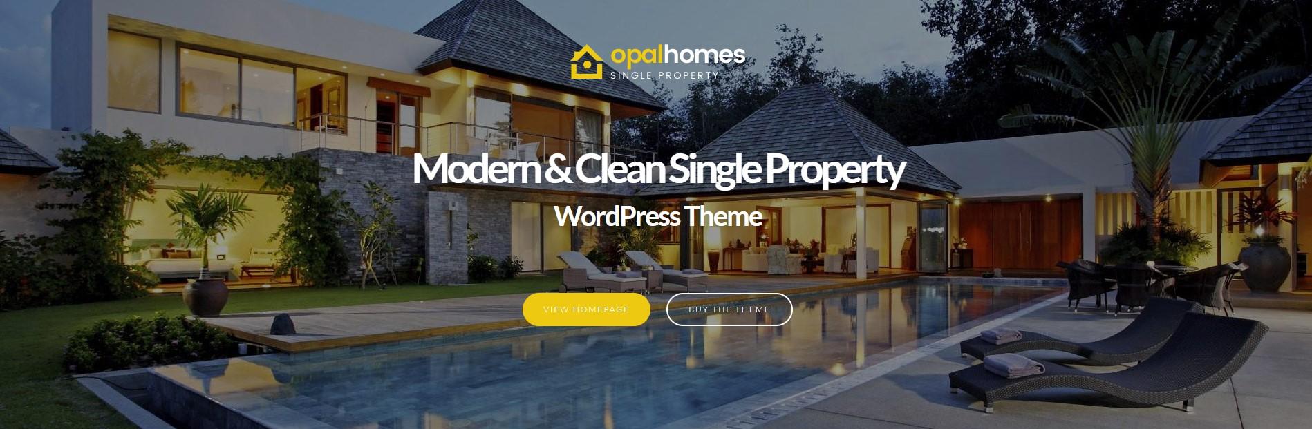 Opalhomes – Single Property WordPress Theme