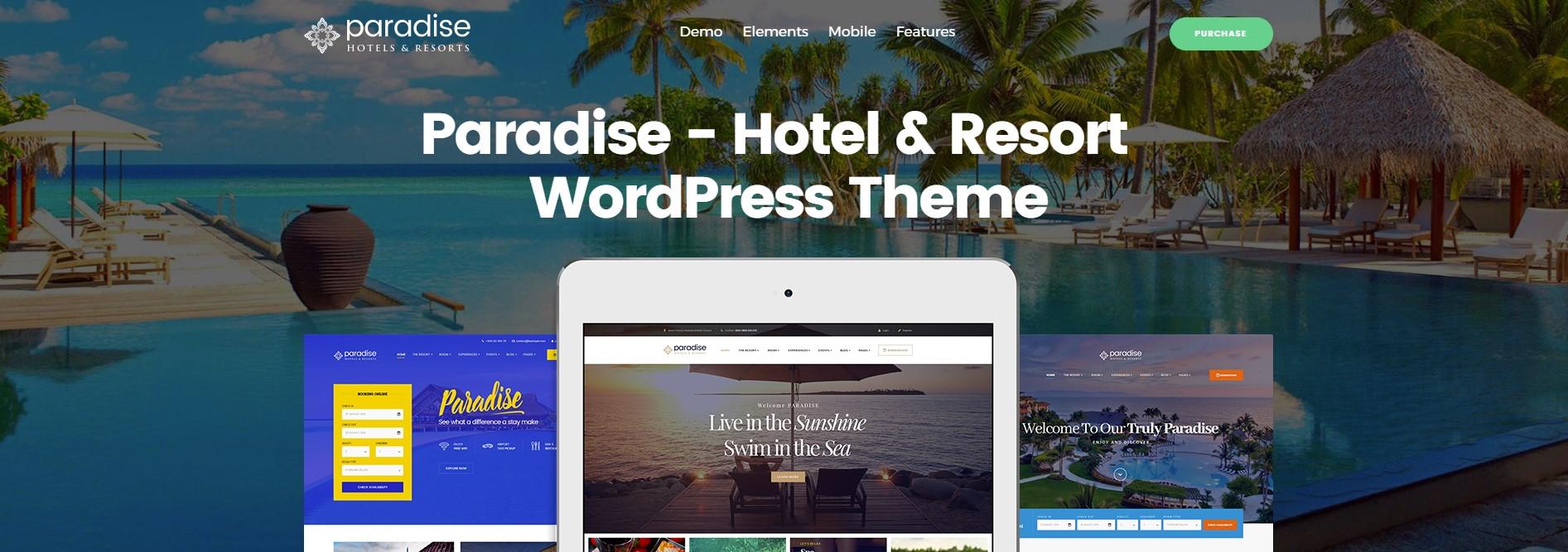 Paradise – Hotel & Resort Responsive WordPress Theme