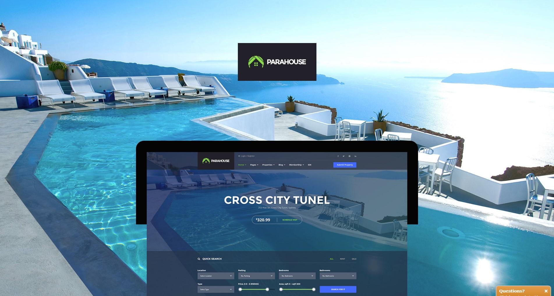 Parahouse – Modern Real Estate WordPress Theme