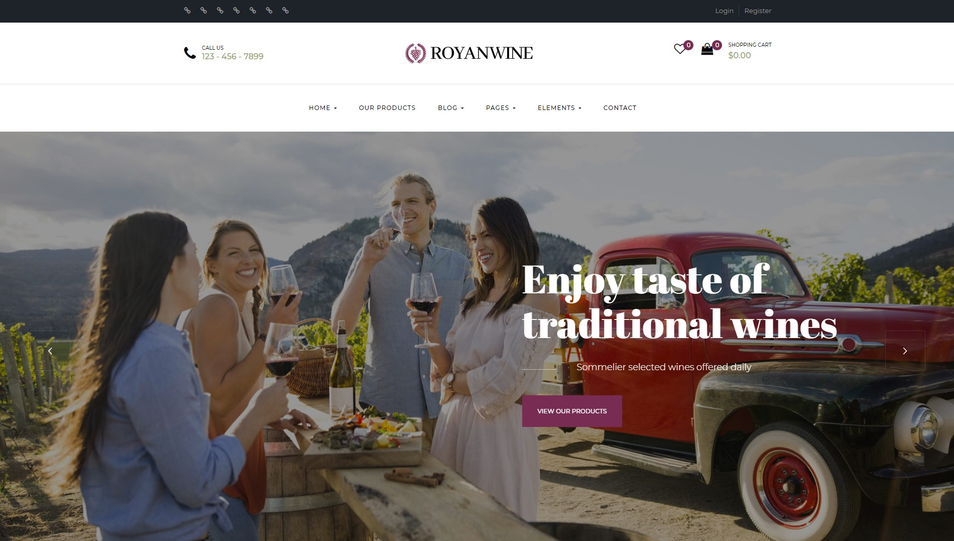 Royan Wine - Vineyard, Winery, Wine Shop and Dairy Farm WordPress Theme